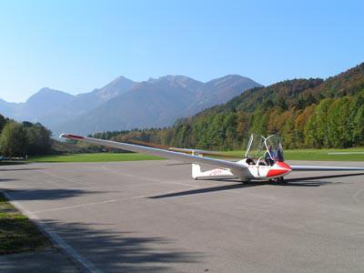 Segelfliegen am Flugplatz
